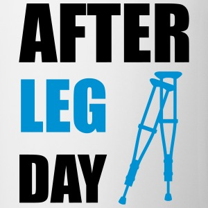 After Leg Day Crutches Funny Fitness Bottles & Mugs - Coffee/Tea Mug