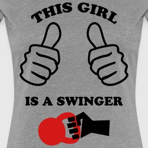 This Girl is a Swinger Women's T-Shirts - Women's Premium T-Shirt