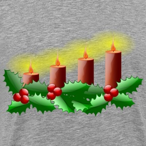 Lit Advent Candles - Men's Premium T-Shirt