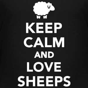 Keep calm and love Sheeps Kids' Shirts - Kids' Premium T-Shirt