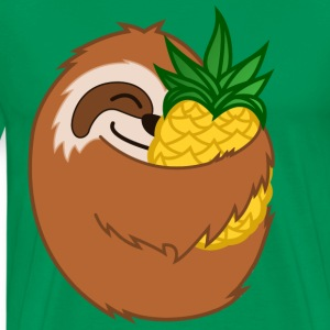 Pineapple Sloth - Men's Premium T-Shirt