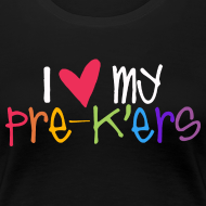 Design ~ Love My Pre-K'ers | Colorful | Teacher Shirts