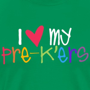 love my prekers teacher shirt T-Shirts - Men's Premium T-Shirt