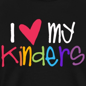 love my kinders teacher shirt T-Shirts - Men's Premium T-Shirt