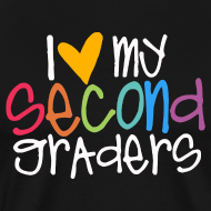 Design ~ Love My Second Graders | Colorful | Teacher Shirts