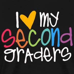 love my second graders teacher shirt T-Shirts - Men's Premium T-Shirt