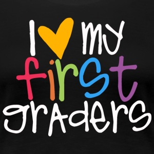 love my first graders teacher shirt Women's T-Shirts - Women's Premium T-Shirt