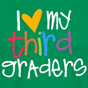love my third graders teacher shirt T-Shirts - Men's Premium T-Shirt
