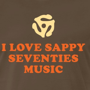 I Love Sappy Seventies Music - Men's Premium T-Shirt