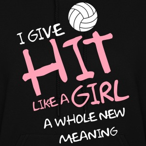 I give hit like a girl a whole new meaning Hoodies - Women's Hoodie