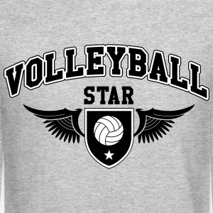 Volleyball star Long Sleeve Shirts - Crewneck Sweatshirt