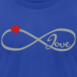 Infinity Love T-Shirts - Men's T-Shirt by American Apparel