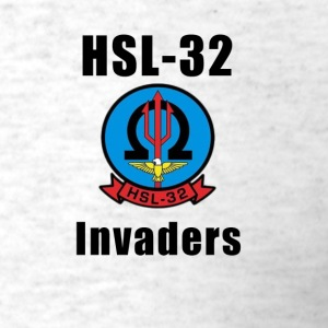 US Navy HSL-32 Invaders Squadron Shirt - Men's T-Shirt