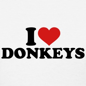I love Donkeys Women's T-Shirts - Women's T-Shirt