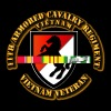 11th Armored Cavalry Regiment w Vietnam SVC Ribbon - Men's Premium T-Shirt
