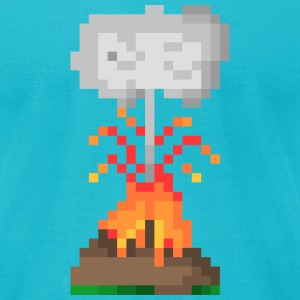 Volcano Eruption - Men's T-Shirt by American Apparel