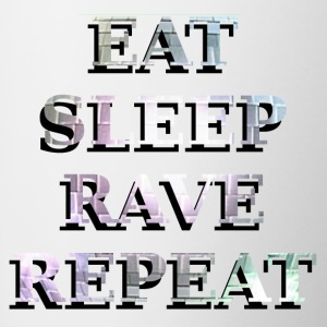 EAT SLEEP RAVE REPEAT Bottles & Mugs - Contrast Coffee Mug