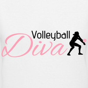 Volleyball Diva Women's T-Shirts - Women's V-Neck T-Shirt