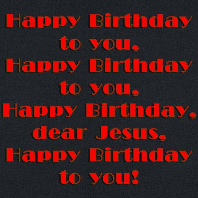 Happy Birthday Jesus Cotton Canvas Tote Bag