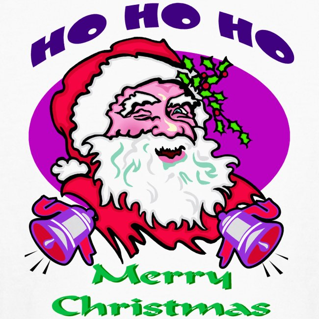 Ho Ho Ho Merry Christmas Long Sleeve T-Shirt For Kids