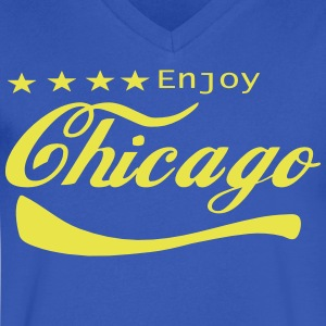 ENJOY CHICAGO - Men's V-Neck T-Shirt by Canvas