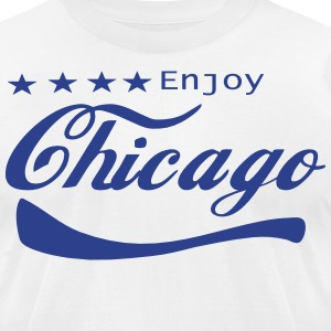 ENJOY CHICAGO - Men's T-Shirt by American Apparel