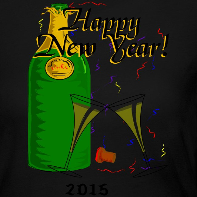 Happy New Year Long Sleeve Jersey T-Shirt For Women