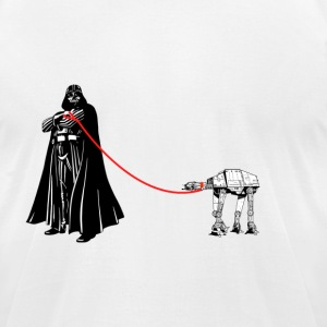 Darth on a Walk - Men's T-Shirt by American Apparel
