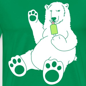 Polar Bear w/ Popsicle T-Shirts - Men's Premium T-Shirt