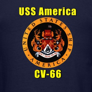 Men's US Navy USS America CV-66 Shirt - Men's T-Shirt