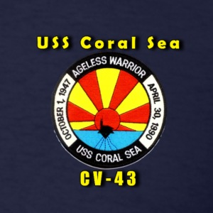 Men's USS Coral Sea CV-43 Decomm Shirt - Men's T-Shirt