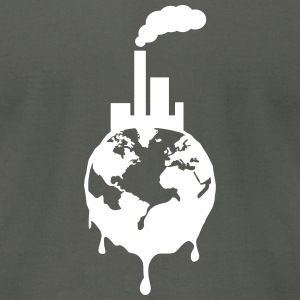 Destroyed Earth T-Shirts - Men's T-Shirt by American Apparel