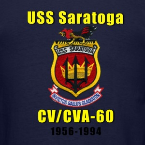 US Navy USS Saratoga CV-60 Tribute Shirt - Men's T-Shirt