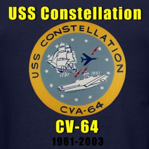 USS Constellation CV-64 Tribute Shirt - Men's T-Shirt
