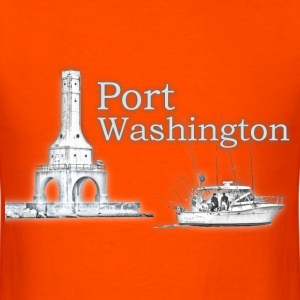 Port Washington Charter Fishing Mens T - Men's T-Shirt