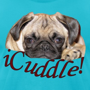 iCuddle Pug Puppy T-Shirts - Men's T-Shirt by American Apparel