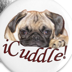 iCuddle Pug Puppy Buttons - Small Buttons