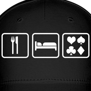 Eat Sleep Poker, Eat Sleep Play Cards Caps - Baseball Cap