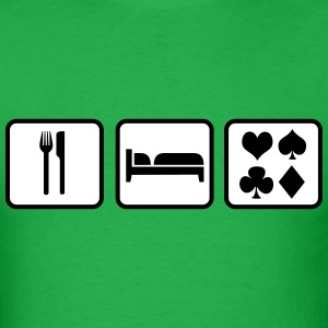 Eat Sleep Poker, Eat Sleep Play Cards T-Shirts - Men's T-Shirt