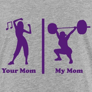 Your mom my mom funny fitness Kids' Shirts - Kids' Premium T-Shirt