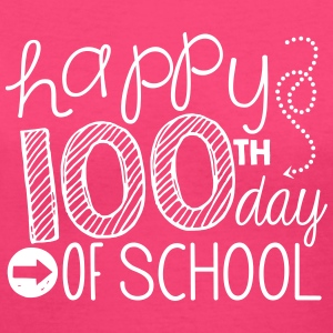 happy 100th day of school Women's T-Shirts - Women's V-Neck T-Shirt
