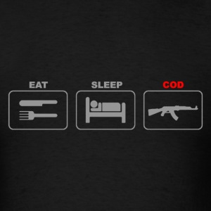 Eat Sleep COD Game Shoot War - Men's T-Shirt