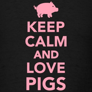 Keep calm and love Pigs T-Shirts - Men's T-Shirt
