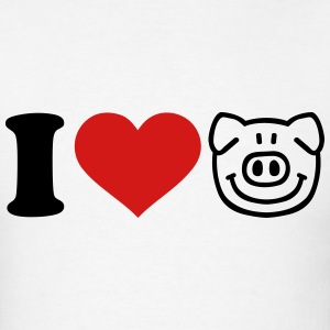 I love Pig T-Shirts - Men's T-Shirt