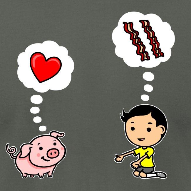 Boys Love Bacon, Too (Men's)