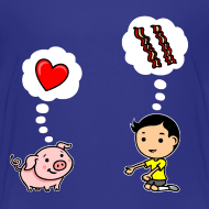 Design ~ Boys Love Bacon, Too (Toddler)