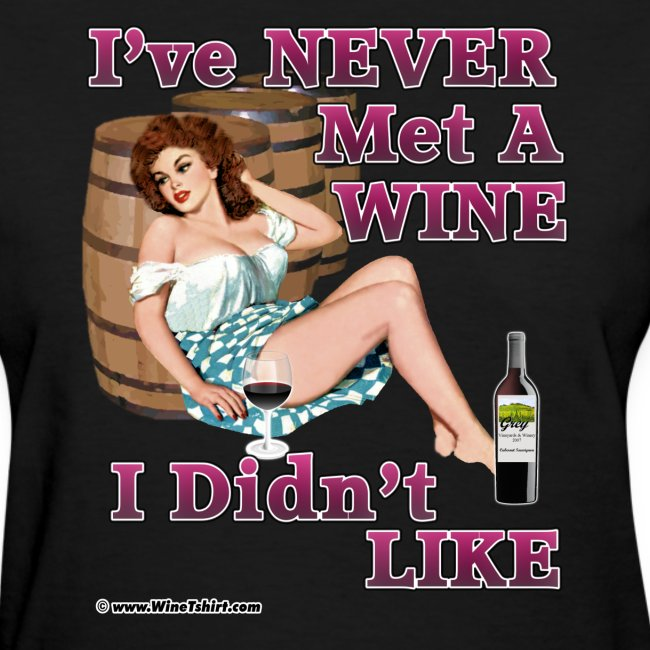 Never Met Wine (art on front)