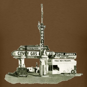 Vintage 1936 Little America Wyoming Gas Station - Men's T-Shirt