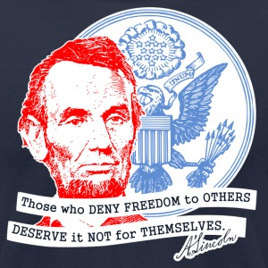 Abraham Lincoln shirt - Men's T-Shirt by American Apparel
