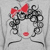 Curly Girl with Red Bow_Global Couture_logo Hoodie - Women's Hoodie